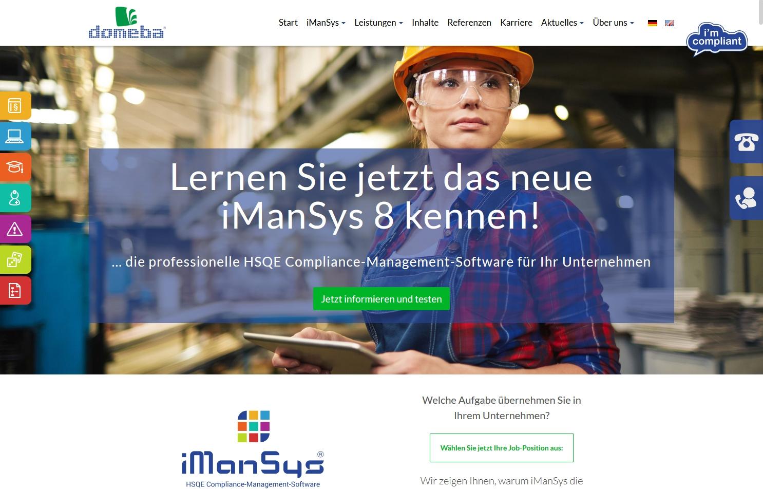 www.domeba.de – die neu gestaltete Startseite