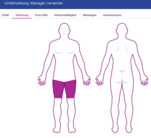 Verbandbuch-Software Verletzung Beinaheunfälle