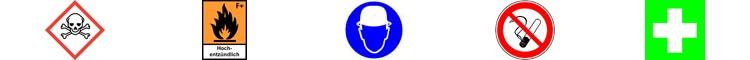 GHS Pictogramme Gefahrensymbole Gebotszeichen Verbotszeichen Rettungszeichen