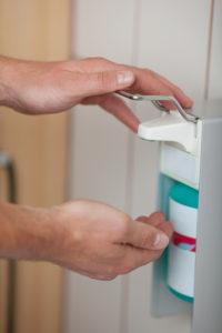 Desinfektion Hygiene Hände desinfizieren