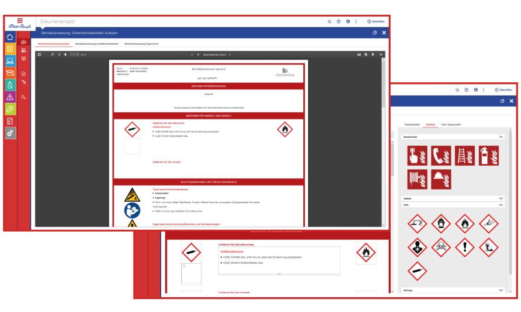 iManSys Software für Betriebsanweisungen