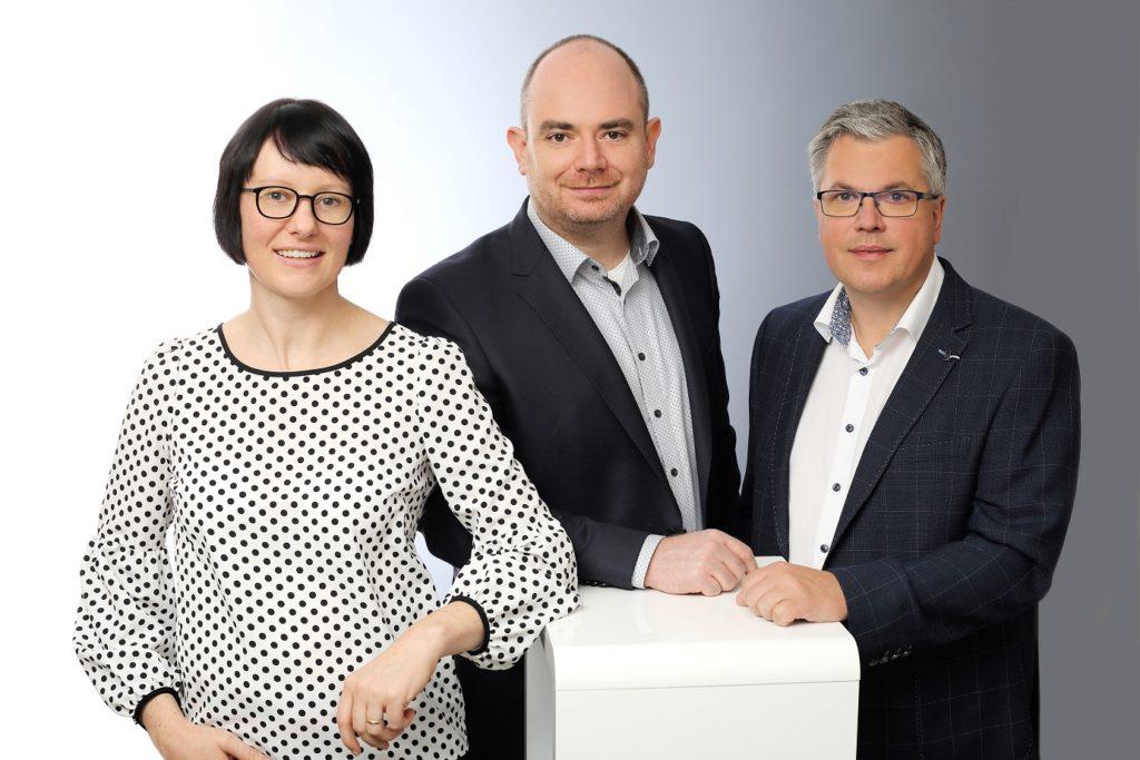 Bernadette Domes, Matthias Domes, Jens Fabian (v.l.n.r.)