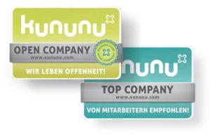 Siegel/Logo kununu Top/Open Company