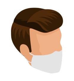 Icon: Unterweisung Mund-Nasen-Bedeckung
