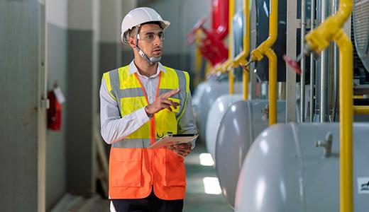 Betriebssicherheitsverordnung mit Angaben für Druckbehälter