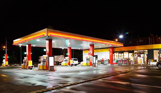 Prüfung von Tankstellen
